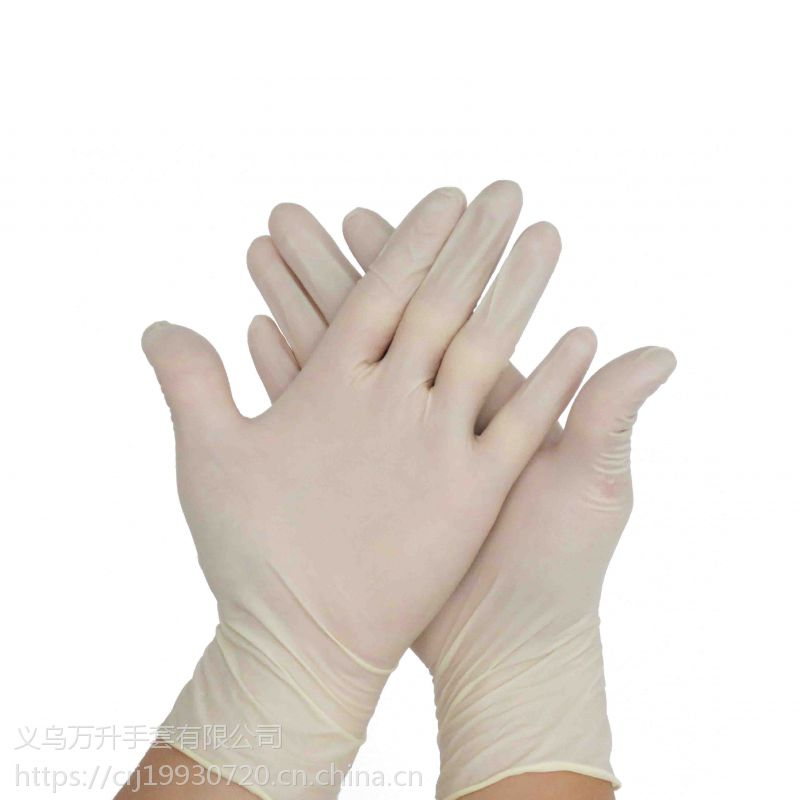 一次性乳胶手套100只装 食品级 工业医用卫生检查橡胶白手套批发
