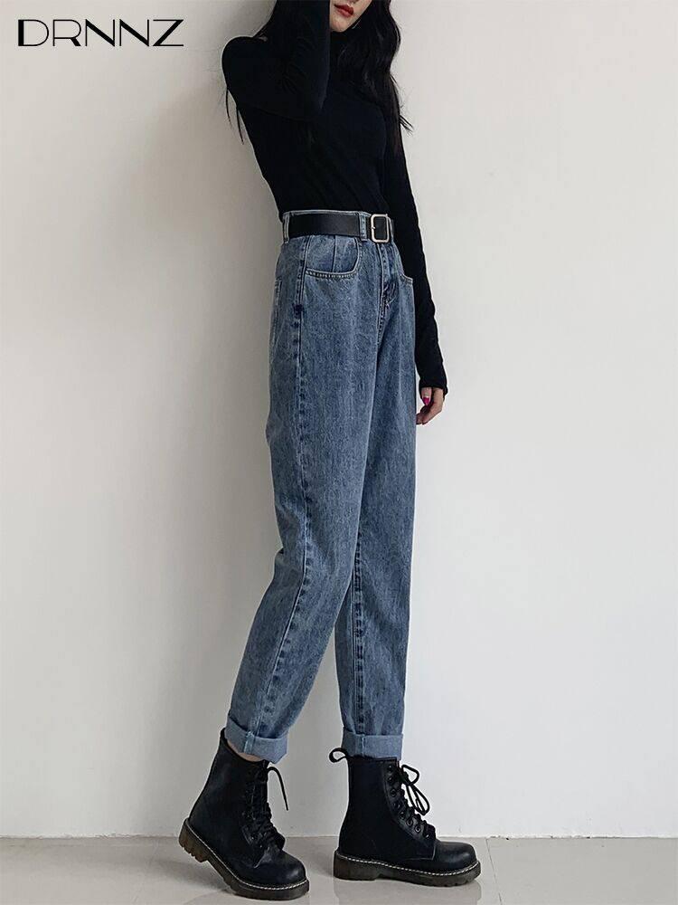 2018春季新款便宜韩版女士牛仔裤高腰九分小脚铅笔裤直批