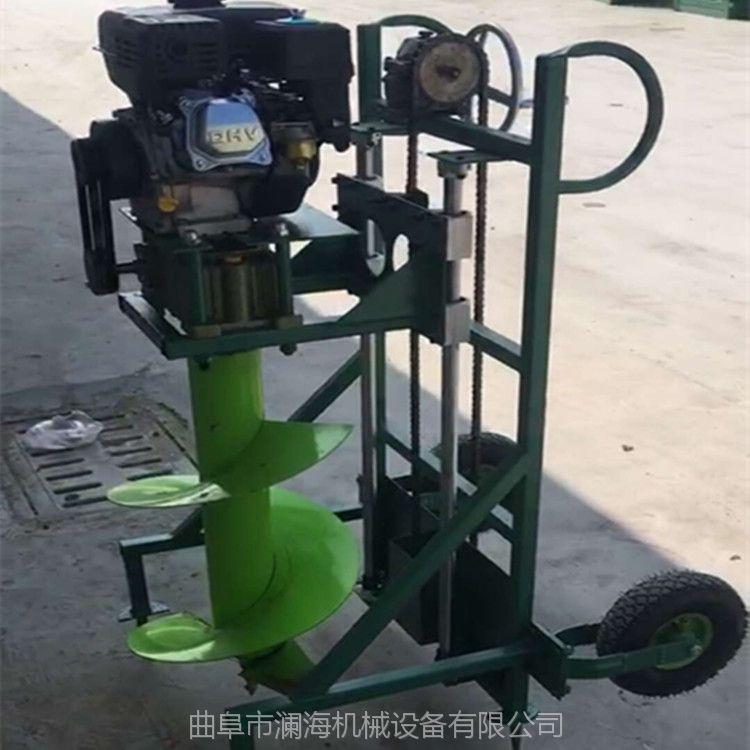 福建汽油机带挖坑机 手压挖坑机 植树专用