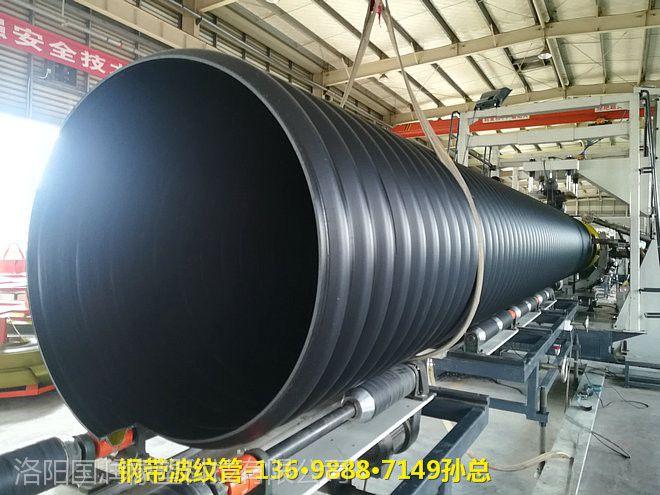 禹王台400钢带增强pe波纹排水管国润新材pe波纹管