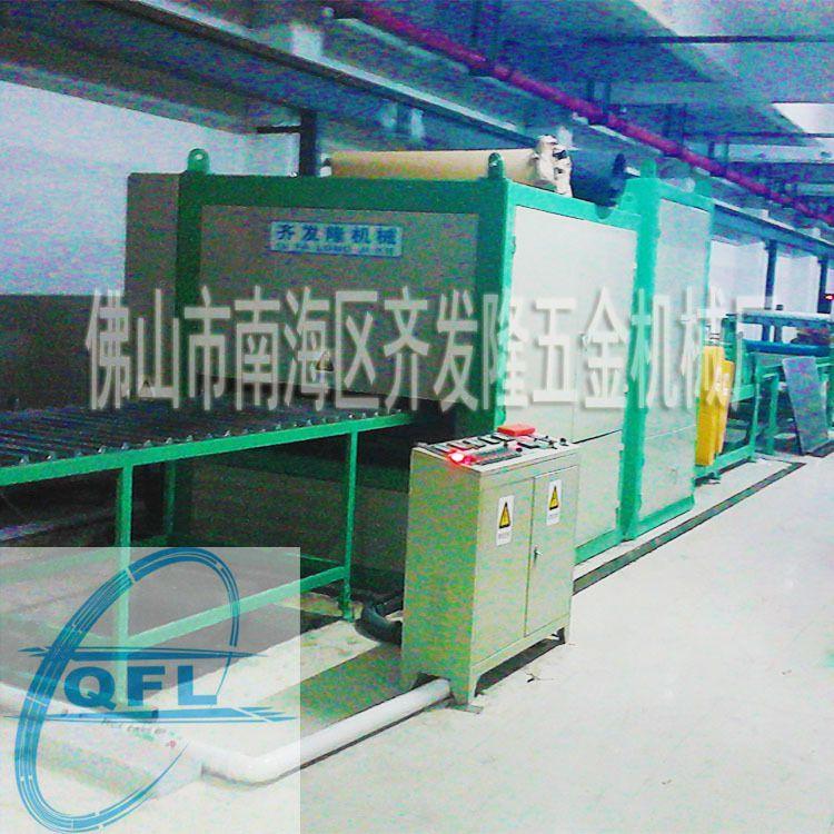 齐发隆品牌-不锈钢板铝板铜板表面拉丝机(hl)生产线图片