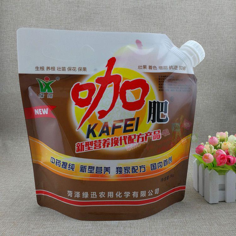 液体袋生产厂家 5公斤浓缩肥料膏体自立袋 透气不漏液吸嘴袋 可定制印刷LOGO