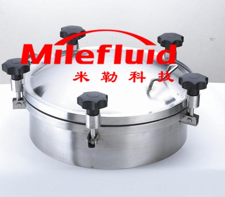 卫生级圆形压力人孔,304不锈钢圆形压力人孔生产厂家