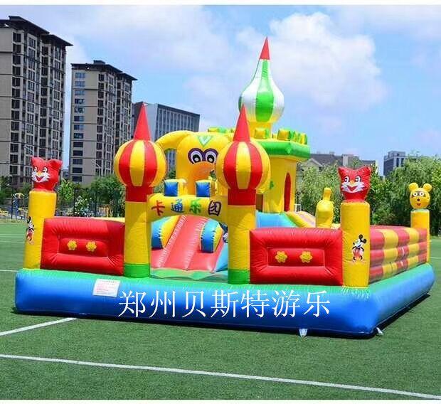 郑州贝斯特儿童充气城堡-滑梯形态