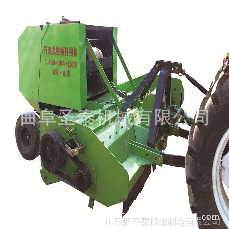 厂家直销拖拉机带动自动捡拾打捆圆捆机 秸秆粉碎打捆机