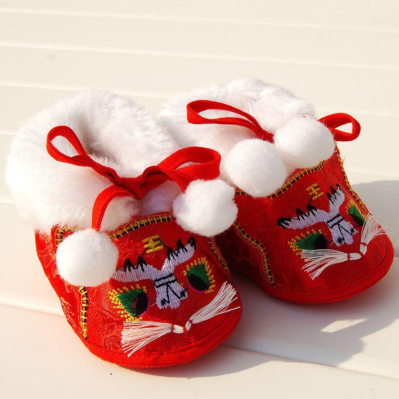 一件代发 棉鞋宝宝布鞋 棉鞋 绣花鞋批发供应 婴儿鞋 虎头鞋