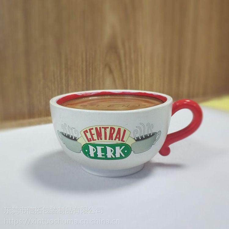 咖啡杯水转印加工 局部可撕膜烫金水贴纸定制