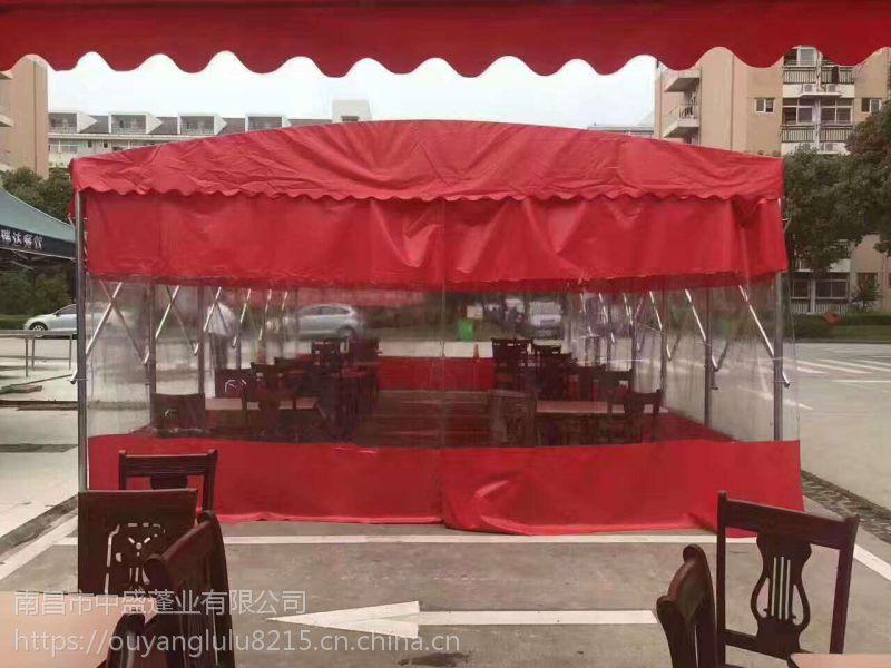 南昌推拉蓬移动折叠蓬遮阳雨棚伸缩棚户外推拉雨篷活动移动车棚