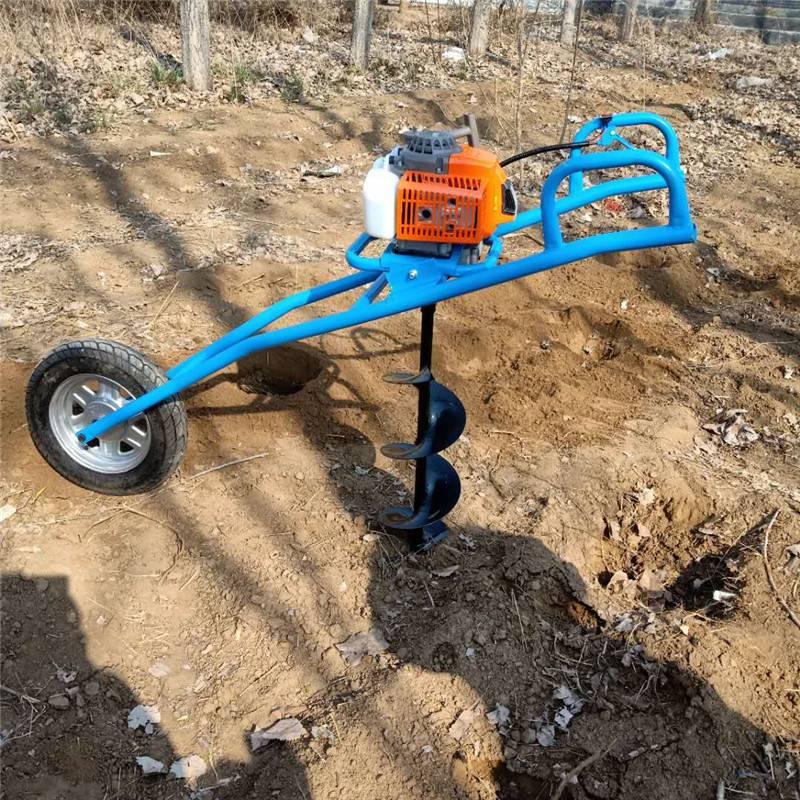 手提式汽油挖坑机 富兴多功能植树钻眼机 果树施肥钻眼机批发