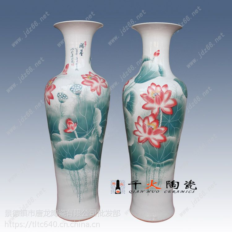 景德镇手绘陶瓷花瓶厂家批发厂家高档陶瓷花瓶图片