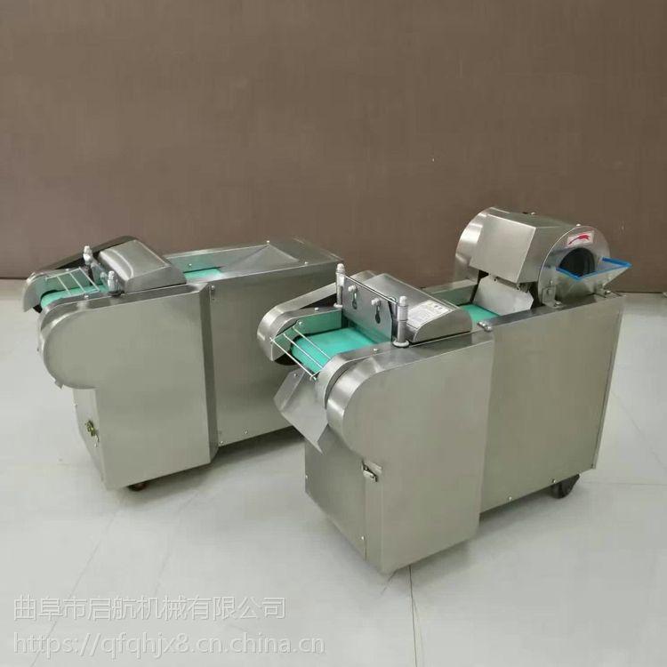 不锈钢型生姜切片机 启航酒店厨房用大葱切丝机 蒜台切丁机价格