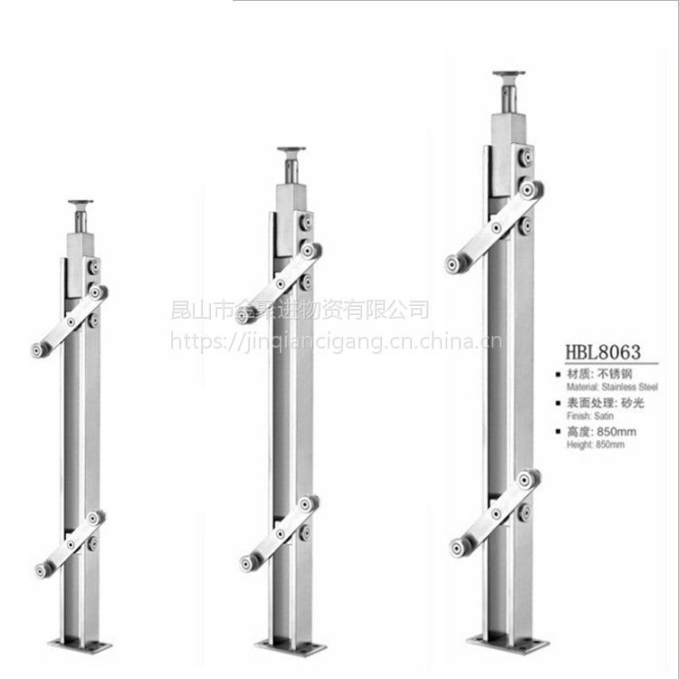 金聚进 厂家推荐新款不锈钢栏杆扶手 304/316不锈钢立柱定制