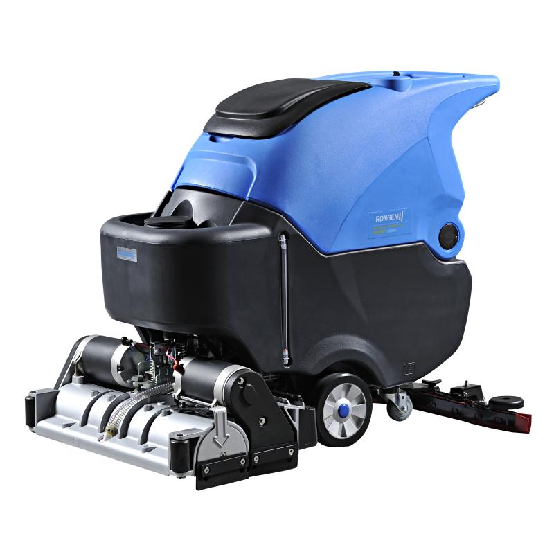 江阴环氧水泥地金刚砂重油污地面用什么样的洗地机?容恩洗扫一体机报价