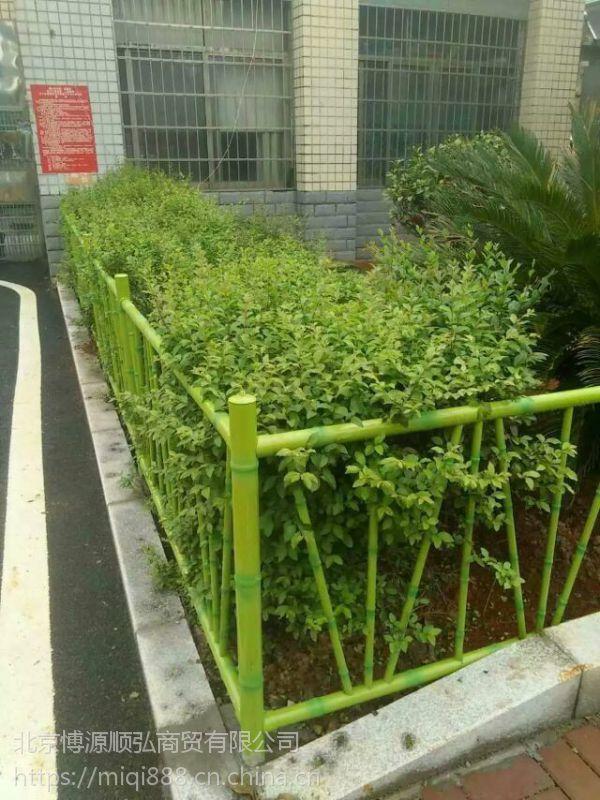 漯河锌钢围墙栏杆,HC漯河仿竹节管护栏,201仿竹篱笆栅栏,锌钢草坪围栏
