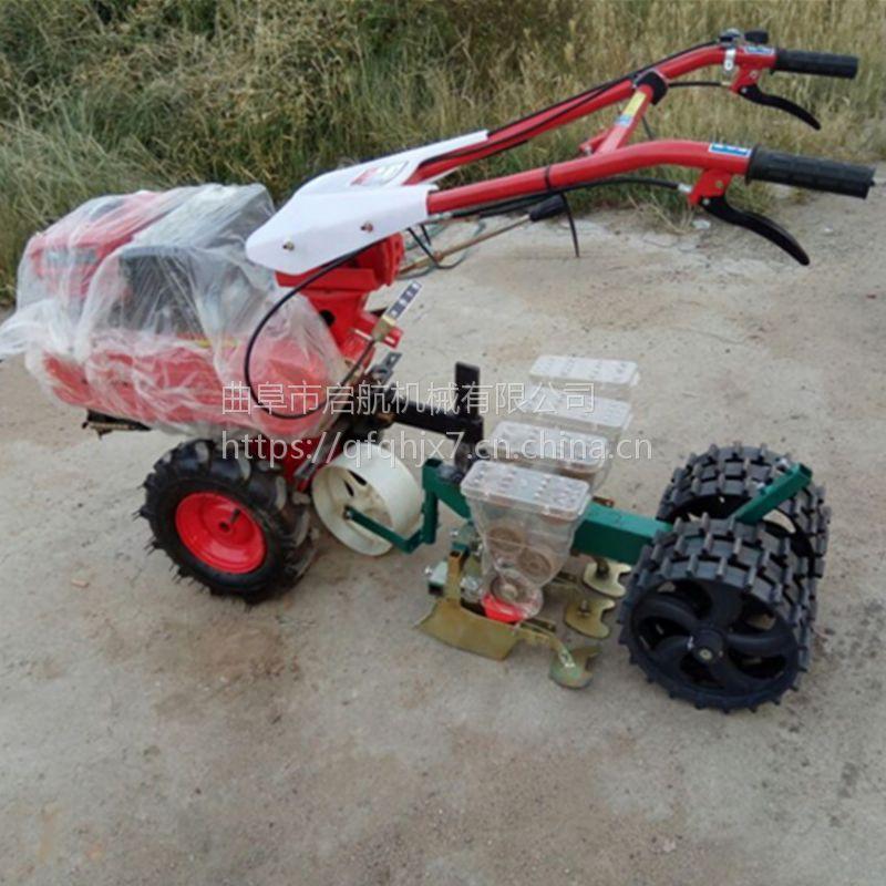 拖拉机带白菜播种机规格 启航山西胡萝卜蔬菜种子精播机 免耕芥菜播种机