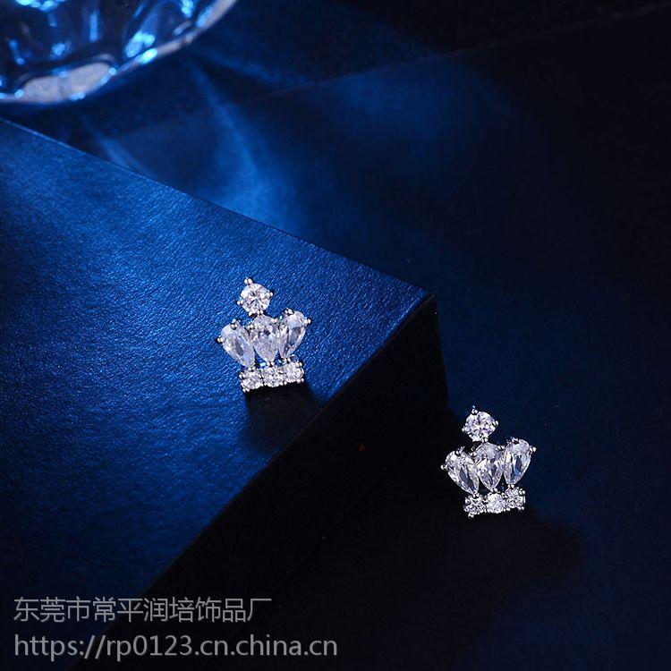 可爱小巧镶嵌锆石女式时尚耳环耳饰 百搭不易过敏 耳环制造商