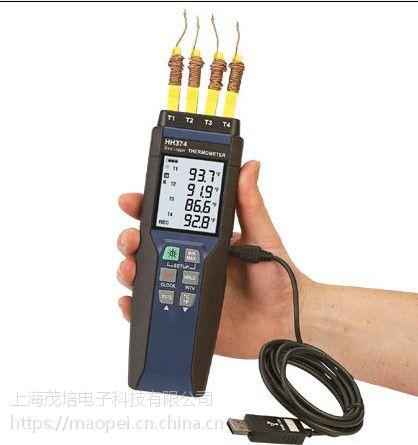 美国Omega欧米茄 HH374 4通道手持数据记录器温度计