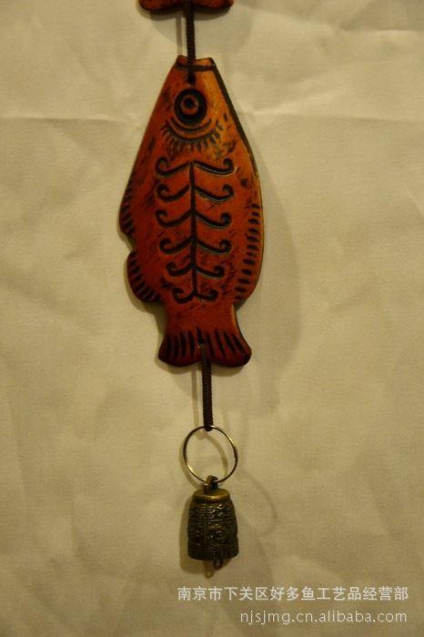 木质工艺品,铃铛鱼系列之五款 做墙壁 房门 床头挂饰 也可做风铃