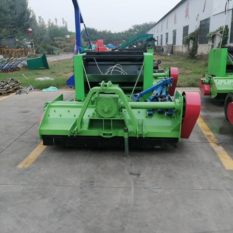 青玉米秸秆粉碎收集机厂家直销 安徽圣泰粉碎打捆一体机