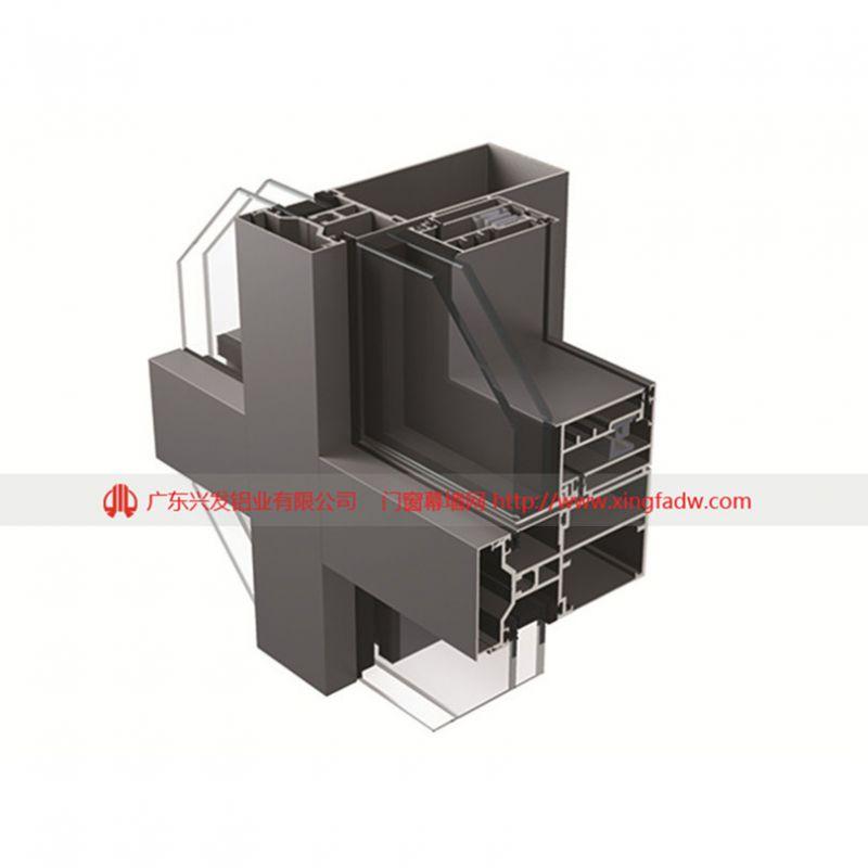 广东兴发铝业|厂家直销90-180系列玻璃幕墙铝型材|国标