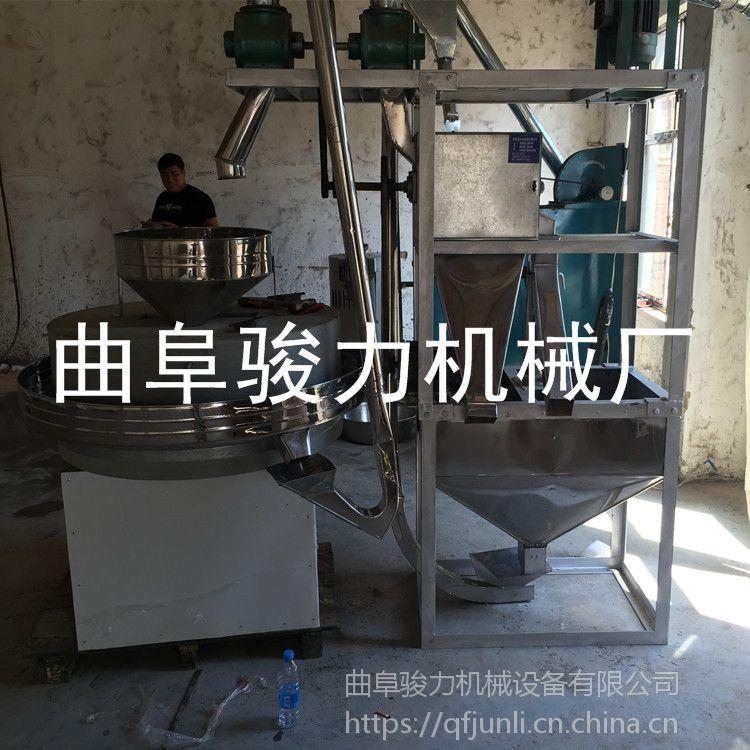 磨坊用石磨面粉机 农作物加工设备电动石磨机 小麦杂粮面粉机 骏力牌