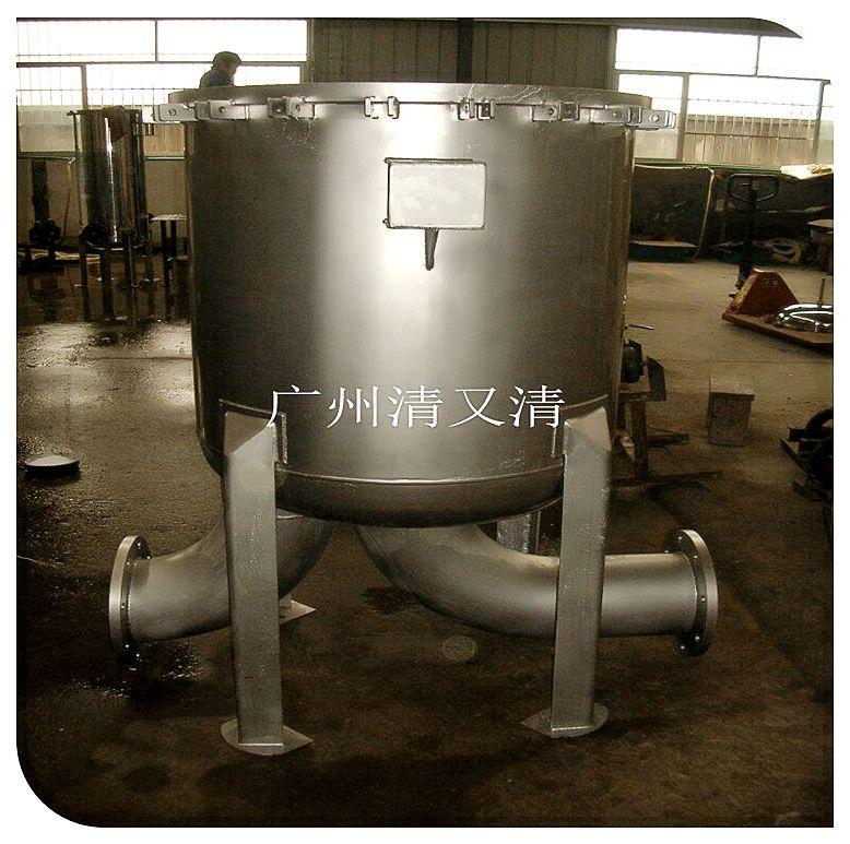 清又清不锈钢袋式过滤器|阳东县独立篮网可取出清洗法兰吊环快装袋式过滤器