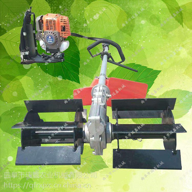 大棚菜地微耕除草机 小型割草机 背负式割灌机 便携式果园松土机