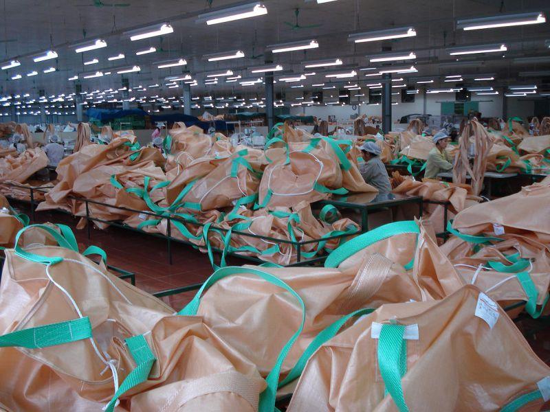 青岛集装袋厂家专业定制集装袋吨袋织布过程视频