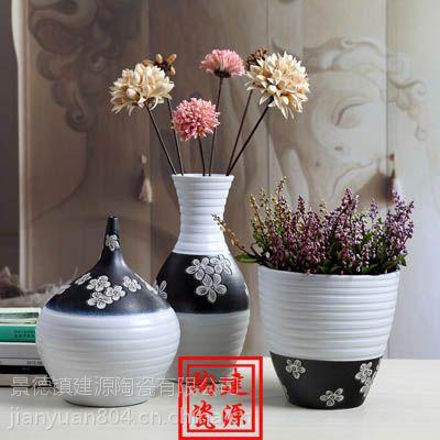 批发现代欧式落地大花瓶 客厅样板房软装摆件 书房餐厅插花装饰工艺品