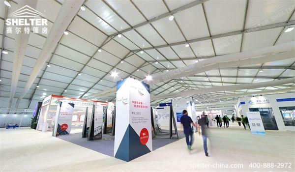 赛尔特50米展会帐篷_国际低碳大会两万平方篷房场馆