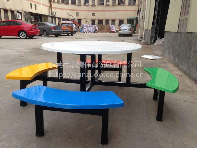 福建莆田食堂定做 食堂玻璃钢餐桌椅价格 多人位餐桌椅