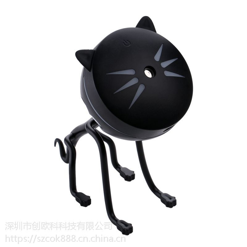 亚马逊热卖爆款小猫加湿器 外观专利七彩渐变加湿器香薰机 喷雾香薰加湿器批发