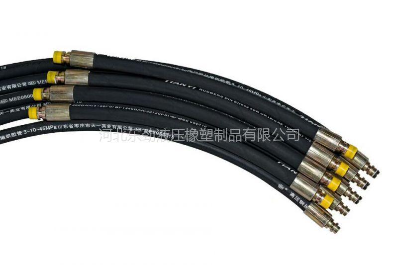 矿用胶管厂家配套直销EN853 R1A K型接头 液压胶管总成
