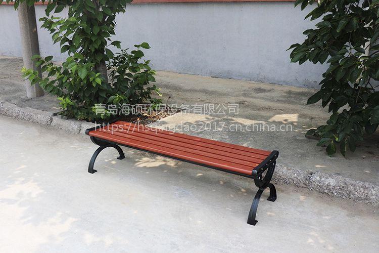 厂家直销户外公园塑木椅子 铸铁脚防腐木椅 平凳椅