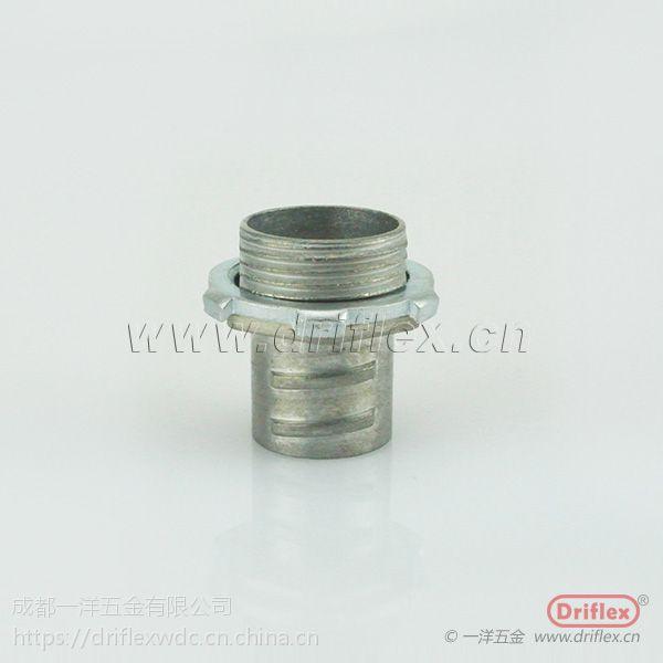 三亚包塑软管厂家供应 螺纹紧固式简易直接头 配套UL金属软管