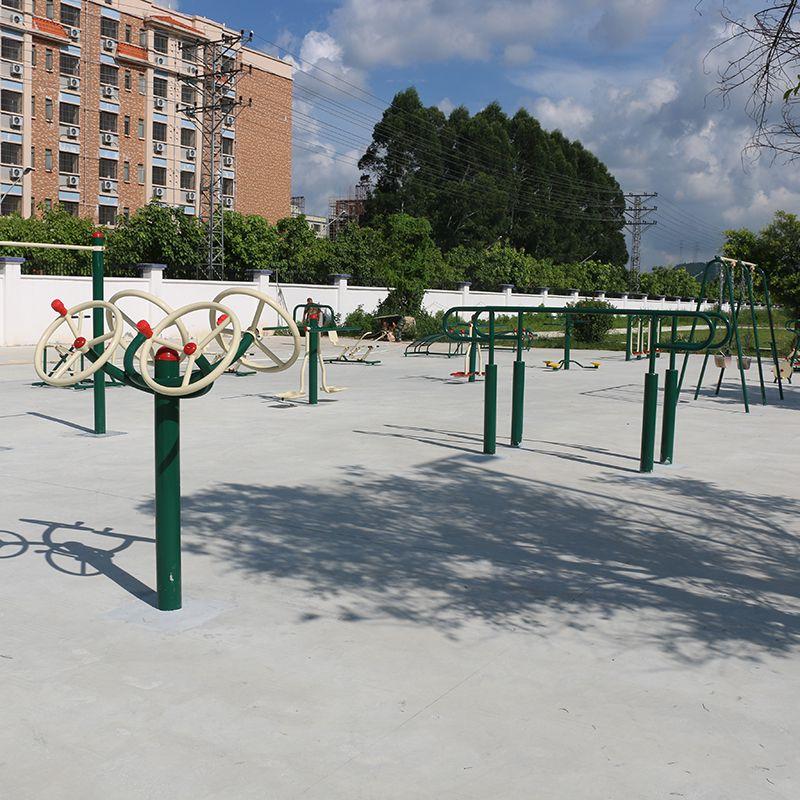 南沙专卖健身设备工厂 小区114管锻炼器材图片 健身车一台价格