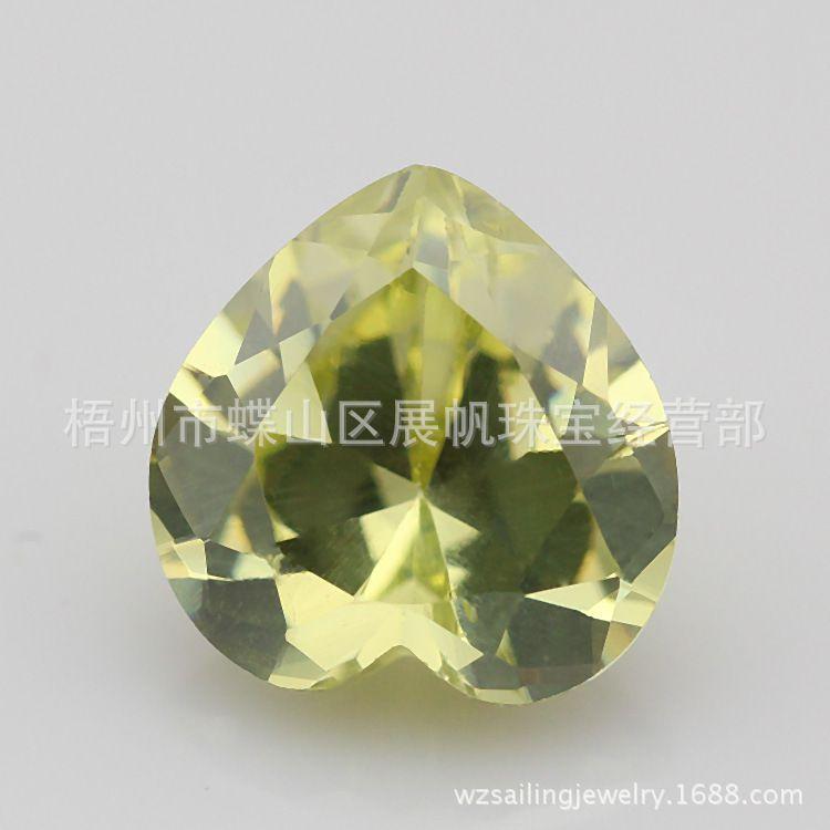 心形苹果绿锆石heart apple green zc图片