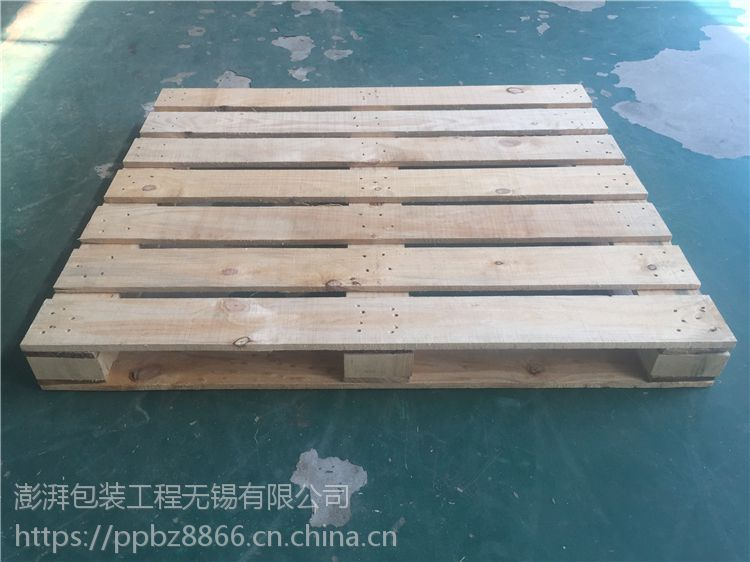 无锡惠山澎湃厂家 定做货架实木托盘 松木加固循环卡板木质栈板