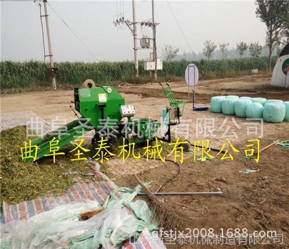 杂草饲料青贮打捆包膜机 多功能新型青贮饲料打包机