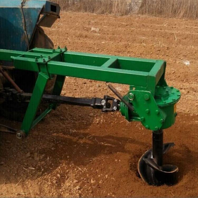 供应种树挖坑机 四轮拖拉机带动植树挖坑机 地钻机