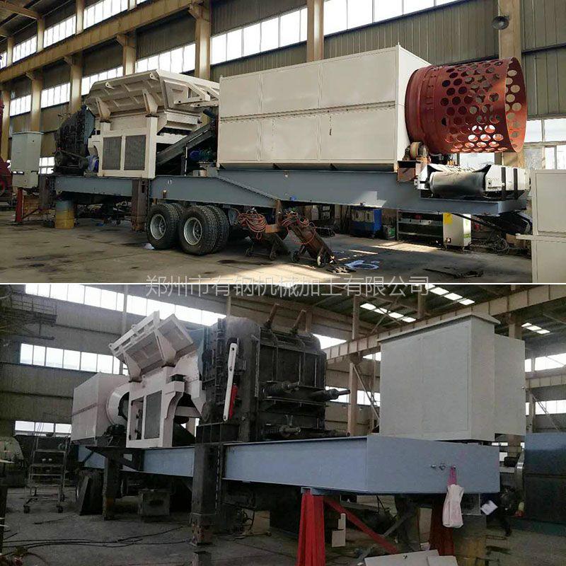 建混搅拌站用料移动人工碎石生产设备阿拉善 可移动片石机价格