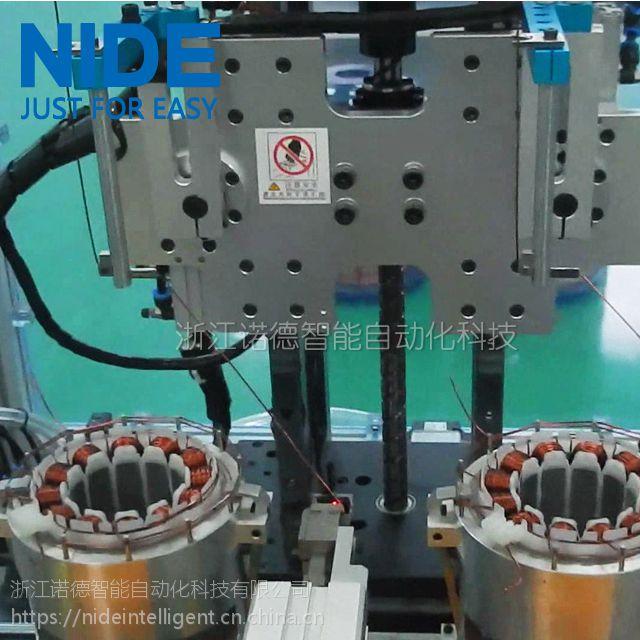 全自动双工位无刷直流电机定子绕线机,两工位线圈内绕机