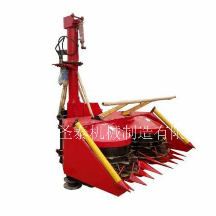 圣泰玉米茎穗同收粉碎青贮机 大型背负式收割机