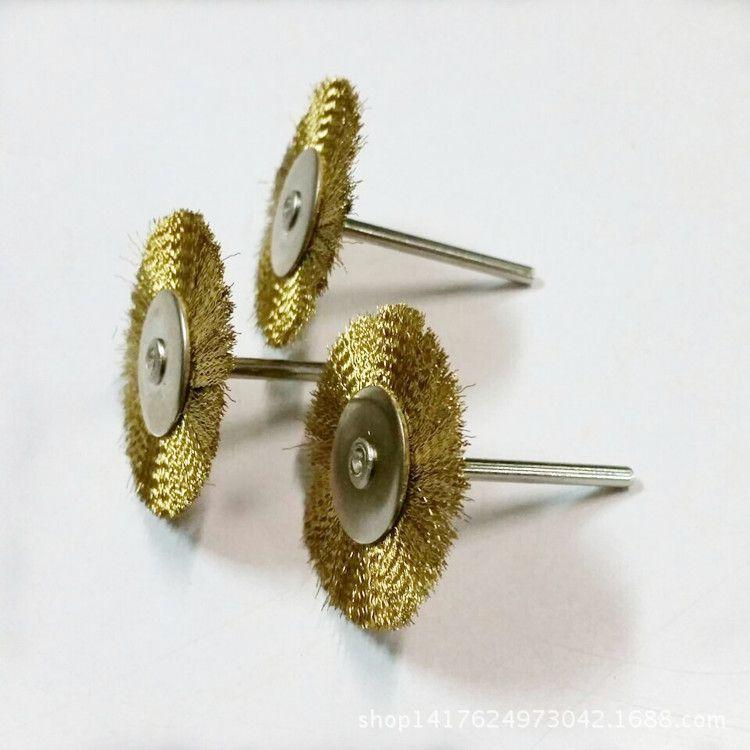 花头带柄红木轮镀家私打磨钢丝碎花圆形去毛男式印花短袖铜丝图片