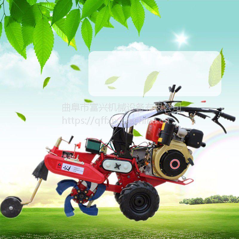 履带式果园多功能管理机 富兴大葱培土旋耕机 柴油农用开沟机厂家