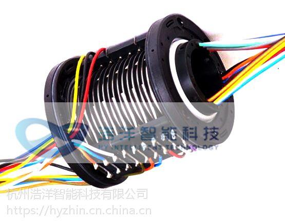 过孔式导电滑环——解决机械设备360°自由旋转过电过信号的绕线问题