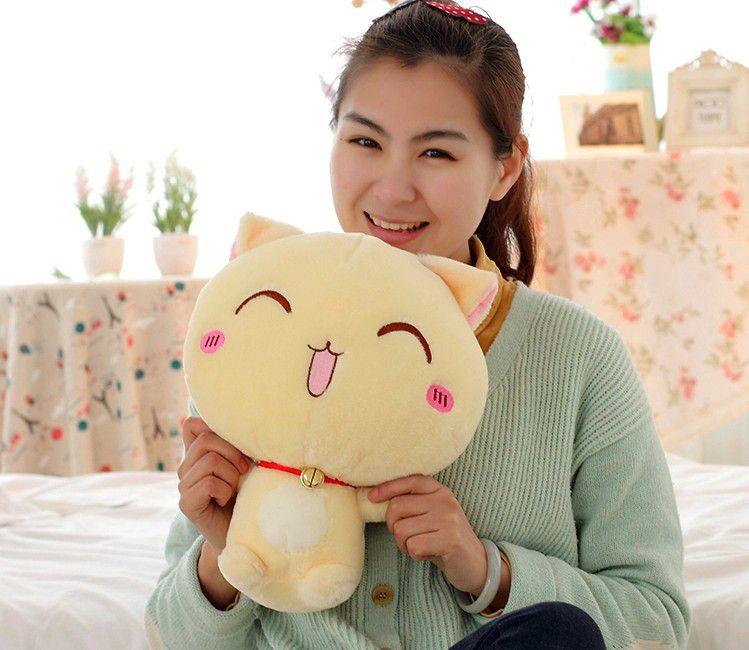 毛绒玩具可爱表情表情图片铃铛招财猫公仔布娃在吗猫咪包卡通可爱图片
