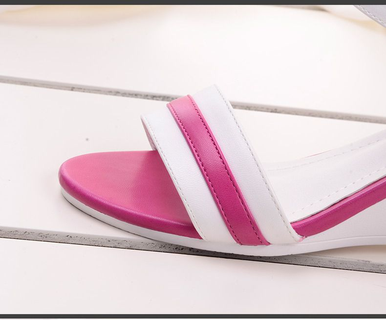 2015可调新款电容欧美女鞋坡跟中跟鱼嘴微调时尚春夏30p图片