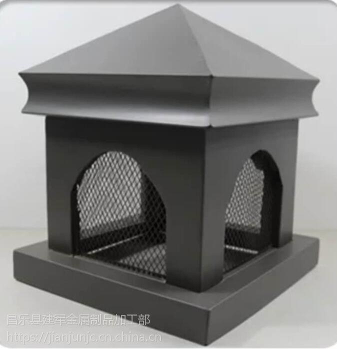 楼房屋顶烟囱帽铝合金成品排气帽通风口定制厂家