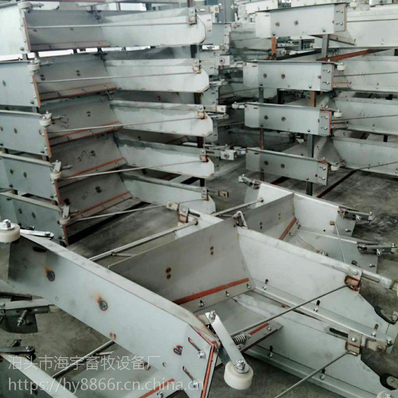 养殖专业户的福利 猪用全自动304不锈钢粪尿分离式刮粪机